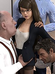 Playing with the big men at daddy's workplace - Incest 3D by Dark Lord